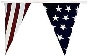 US Flag Store Patriotic Pennant Flag Streamers, 30-Feet