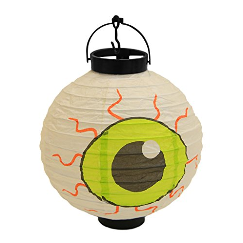 - EAPTS Halloween Funny Creative Decorations Paper Lanterns with LED Light Hanging Ornament - Spider, Pumpkin, Bat, Smile Face, Witch, Castle, Skull, Eyes (A)