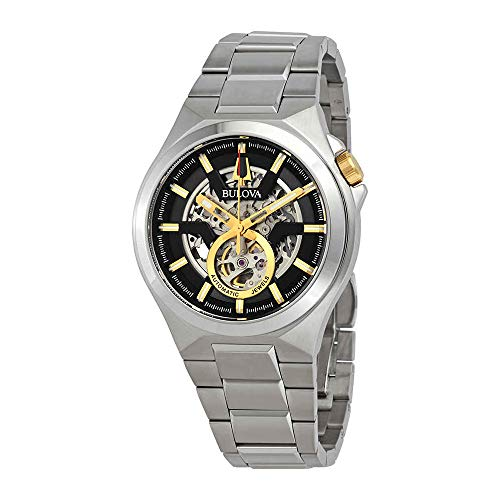 (Bulova 98A224 Maquina Men's Watch Silver 46mm Stainless Steel)