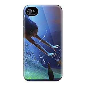 Iphone 4/4s Case Cover - Slim Fit Tpu Protector Shock Absorbent Case (underwater Love) by lolosakes