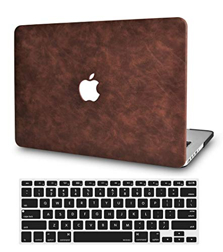 LuvCase 2 in 1 Bundle Leather Hard Shell Case Cover with Keyboard Cover Compatible MacBook Old Pro 13