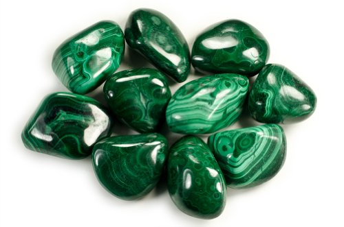 Hypnotic Gems Materials: 1 lb Bulk Tumbled Malachite Stones from Africa - Natural Polished Gemstone Supplies for Wicca, Reiki, and Energy Crystal HealingWholesale Lot by Hypnotic Gems