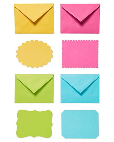 American Greetings Bright Blank Single Panel Note Cards and Colored Envelopes, ()
