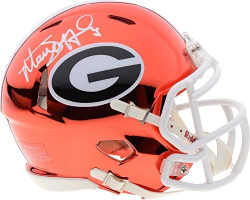 Matthew Stafford Georgia Bulldogs Autographed Riddell Chrome Alternate Speed Mini Helmet - Fanatics Authentic ()