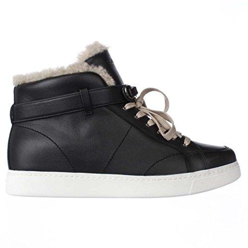 Top Coach High Natural Fleece Richmond Fashion Sneakers Lined Black vrwvSqI