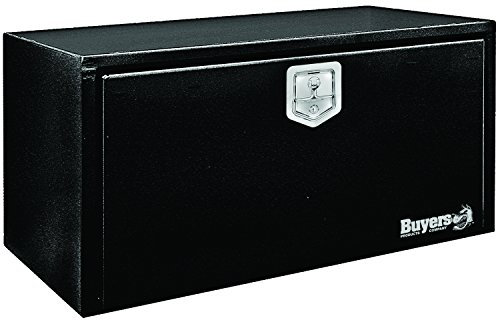 (Buyers Products Black Steel Underbody Truck Box w/ T-Handle Latch (18x18x30 Inch))