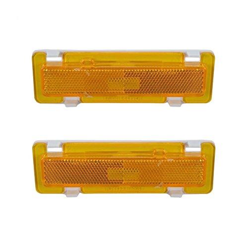 Side Marker Signal Corner Parking Light Pair Set for Camaro Firebird Trans ()