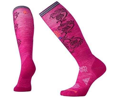 Smartwool Women's PhD Ski Light Pattern Socks (Berry) Medium