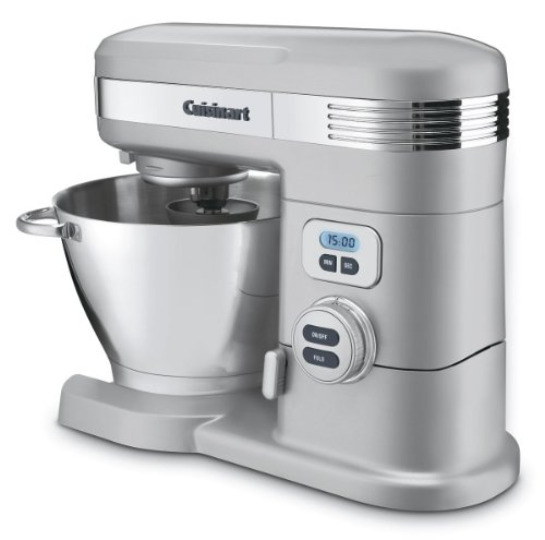 Cuisinart (CERTIFIED REFURBISHED) SM-55BCFR 5-1/2-Quart 12-Speed Stand Mixer, Brushed Chrome