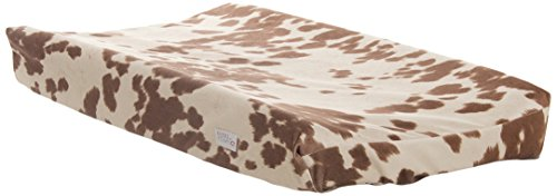 Sweet Potato Happy Trails Changing Pad Cover, Tan/Cream (Pad Cover Cow Changing)