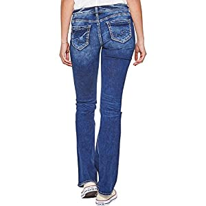 Silver Jeans Co. Women's Low-Rise Slim Bootcut Jeans