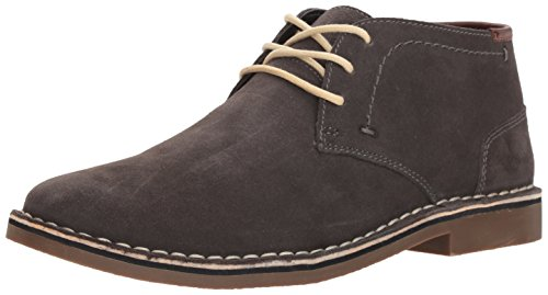 Kenneth Cole REACTION Men's Desert Sun SU Chukka Boot, Dark Grey Suede, 9.5 M US