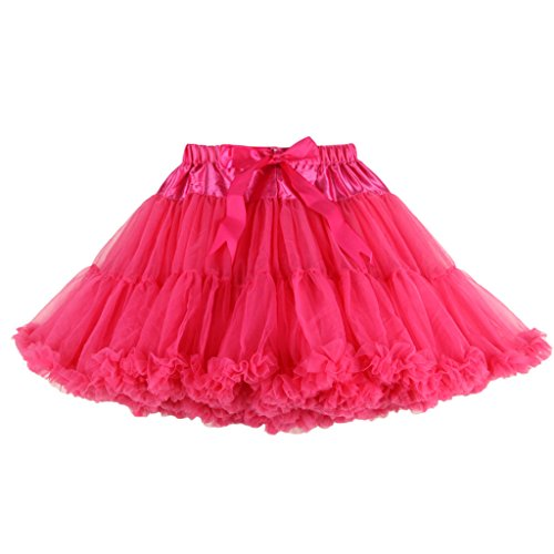 Mini Buenos Mousseline De Pink Danse Hot Ninos Femme 2 Tutu Superposés nbsp;couches Jupe r4qzr