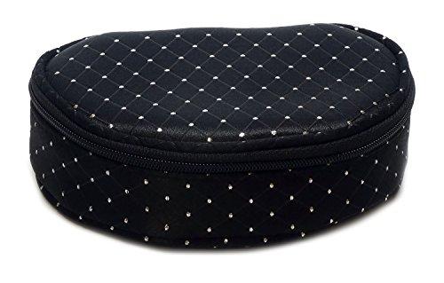 Speert Evening Star Designer Purse Cosmetic Zippered Bag Style 4072 (BLACK)