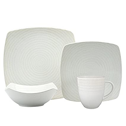 Image Unavailable Amazon.com | Red Vanilla White Rice 16-piece Dinnerware Set