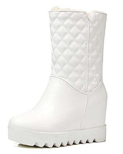 Blanc Femme Aisun On Bottes Slip Ski Classique Mollet qgfrqn60