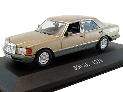 - Mercedes-Benz S-Class 500 SE 1979 Year German Standard Wheelbase Car 1/43 Collectible Model Vehicle Turbocharged Diesel Engine Car by Daimler AG