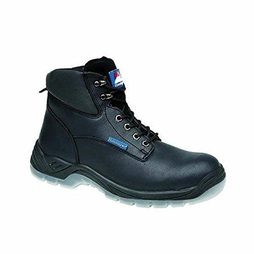 Del Himalaya 5052–12.0Full Grain–Botas de piel, PU transparente Suela Botas de seguridad, tamaño 12, color negro