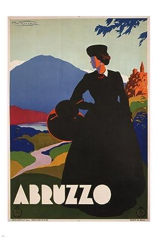 Abruzzo Giulio Ferrari Italy Poster1930 24X36 Old Fashioned Colorful Scenic - Giulio Ferrari