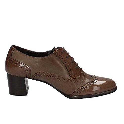 Zapatos Calpierre Elegantes Cuero Marrón Mujer UqqdSTx