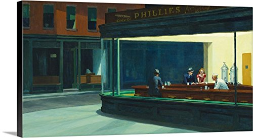 greatBIGcanvas Gallery-Wrapped Canvas entitled Nighthawks, 1942 by Edward Hopper 30