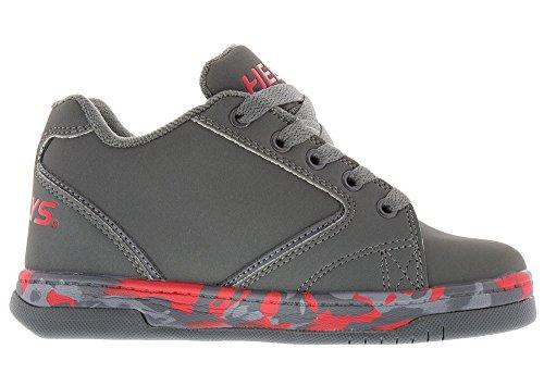 Heelys Propel 2.0 Skate-Schuh (kleines Kind / großes Kind) Holzkohle / Rot / Konfetti)