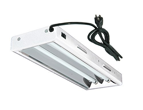 Hydroplanet™ T5 2ft 2lamp Fluorescent Bulbs Included for Indoor Horticulture Gardening(2 Lamp, 2ft)