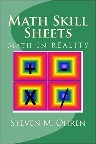 Math Skill Sheets: Math In REALITY (Volume 2): Mr. Steven M ...