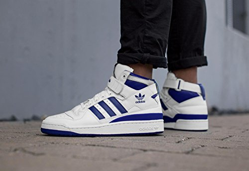 finest selection 970f7 9d371 adidas Mens Originals Forum Mid Refined Trainers in White Royal  Amazon.co.uk Shoes  Bags