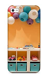 Cute Appearance Cover/tpu SzHdTEN9639yTFTf Wall Cubby Storage In Playroom With Paper Lanterns Case For Iphone 5c