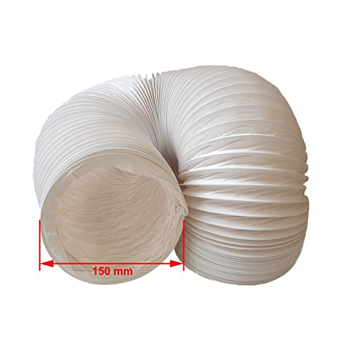 daniplus PVC Flexible Diameter 150 mm x 4 m for Air Conditioning Dryer Cooker Hood Ducting Hose