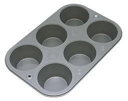 OvenStuff Nonstick 6 Cup Jumbo Muffin Pan
