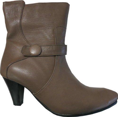 Andrea Conti Stiefelette - Botas de cuero para mujer marrón - pardo