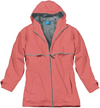 Bonded Shell Color - Charles River Apparel Women's New Englander Waterproof Rain Jacket, Coral Reflective, 3X-Large