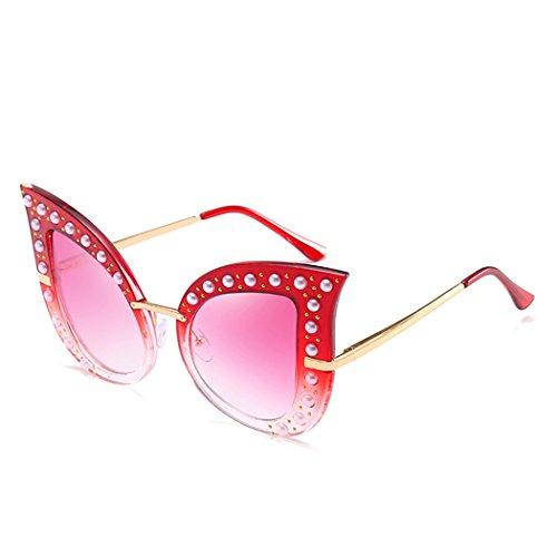 e9a2585697 Horrenz perla de lujo gafas de sol de las mujeres del diamante retro del  ojo de ...