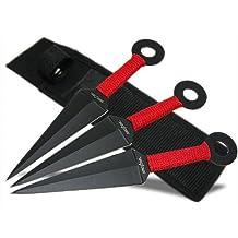 BladesUSA TK-008-3 Throwing Knife Set 8-Inch Overall