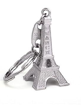 Torre Eiffel de Paris llavero Ciudad del Amor Color Plateado ...