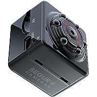 Mini Hidden Spy Camera - 1080P Portable Spy Camcorder with Night Vision, Motion Detection, Indoor/Outdoor Use, Home Surveillance Camera Nanny Cam