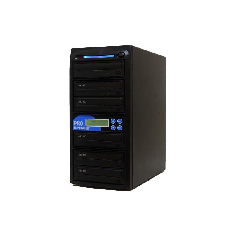 Produplicator 1 to 5 24X Burner M-Disc Support CD DVD Duplicator - Standalone Copier Duplication Tower