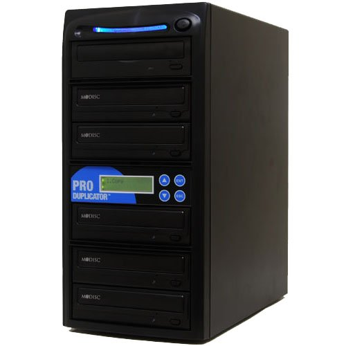 Produplicator 1 to 5 24X CD DVD Duplicator Copier (M-Disc Support Burner) with Nero Essentials CD/DVD Burning Software (Blu Ray Vcr Combo Player)