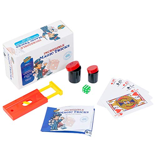 Reading Mind Trick (Learn & Climb Incredible Magic Tricks for Kids Ages 7,8-10-Set of 3 Tricks kit Includes Tube & Dice Trick, Finger Chopper Trick, Magical Mind Reading Cards Illusion & Easy to Follow Instructions.)