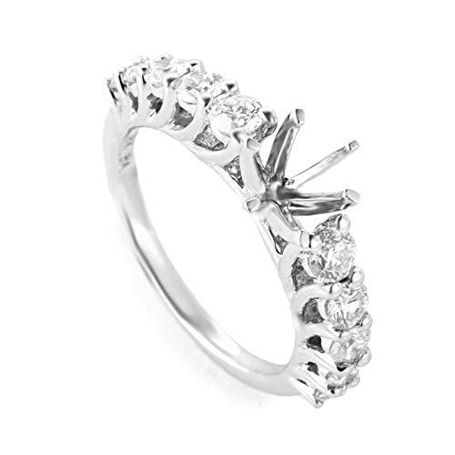 Gold Diamond Mounting (Luxury Bazaar ~1.04ct 18K White Gold Diamond Engagement Ring Mounting)