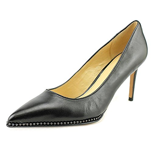 Coach Womens Vonna Leather Pointed Toe Classic Pumps Black/Black