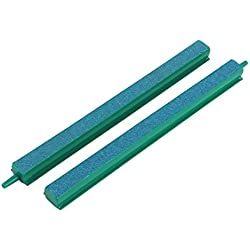 Jardin Fish Tank Air Bubble 2-Piece Air Stone Bars, 8-Inch, Green/Blue