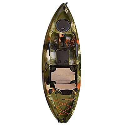 8944491790144 Vanhunks Manatee 9ft Single Fishing Kayak - Jungle Green from Vanhunks Boarding