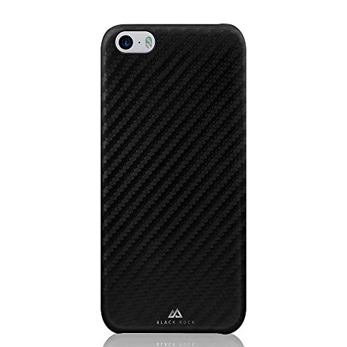 Black Rock Flex Carbon Hülle für Apple iPhone SE – Schwarz