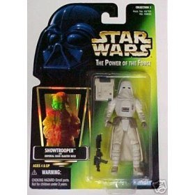 Star Wars Power of the Force POTF Green Card Hologram Snowtrooper with Imperial Issue Blaster (Imperial Blaster Rifle)