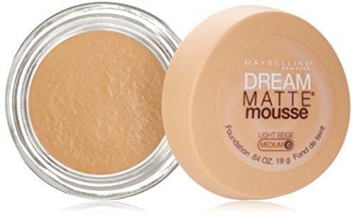 Maybelline Dream Matte Mousse Foundation, Light Beige [0], 0.64 oz (Pack of 2)