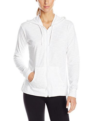 Hanes Women's Jersey Full Zip Hoodie, White, Medium by Hanes (Image #1)
