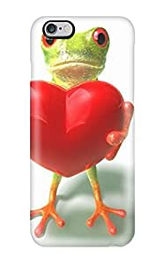 High Quality Aarooyner Frog Holding A Heart Cgi 3d Abstract Cgi Skin Case Cover Specially Designed For Iphone - 6 Plus